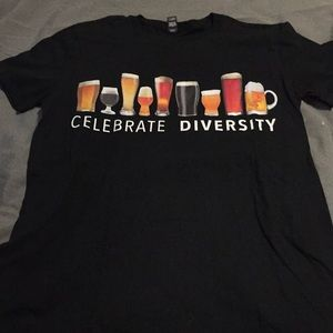 Black celebrate Diversity beer shirt